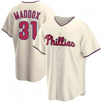 Men's Garry Maddox Philadelphia Cream Replica Alternate Baseball Jersey (Unsigned No Brands/Logos)