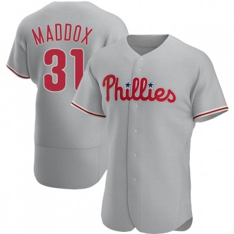 Men's Garry Maddox Philadelphia Gray Authentic Road Baseball Jersey (Unsigned No Brands/Logos)