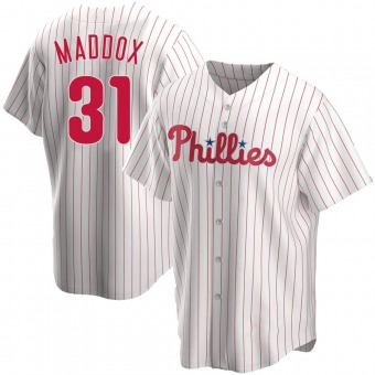 Men's Garry Maddox Philadelphia White Replica Home Baseball Jersey (Unsigned No Brands/Logos)