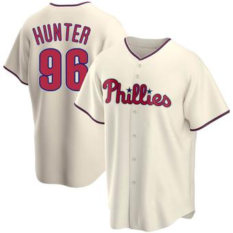 Men's Tommy Hunter Philadelphia Cream Replica Alternate Baseball Jersey (Unsigned No Brands/Logos)