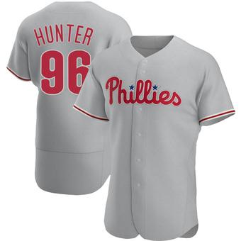 Men's Tommy Hunter Philadelphia Gray Authentic Road Baseball Jersey (Unsigned No Brands/Logos)