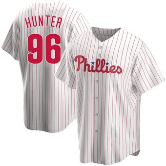 Men's Tommy Hunter Philadelphia White Replica Home Baseball Jersey (Unsigned No Brands/Logos)