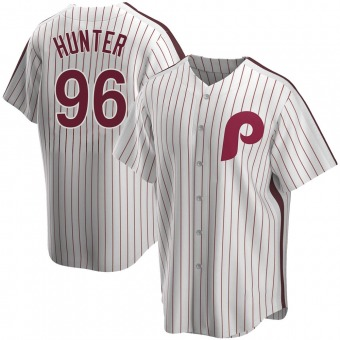 Men's Tommy Hunter Philadelphia White Replica Home Cooperstown Collection Baseball Jersey (Unsigned No Brands/Logos)