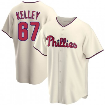 Men's Trevor Kelley Philadelphia Cream Replica Alternate Baseball Jersey (Unsigned No Brands/Logos)