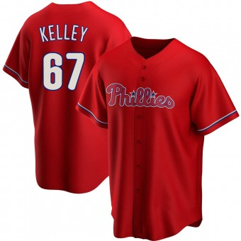 Men's Trevor Kelley Philadelphia Red Replica Alternate Baseball Jersey (Unsigned No Brands/Logos)