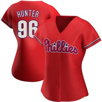 Women's Tommy Hunter Philadelphia Red Replica Alternate Baseball Jersey (Unsigned No Brands/Logos)