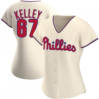 Women's Trevor Kelley Philadelphia Cream Authentic Alternate Baseball Jersey (Unsigned No Brands/Logos)