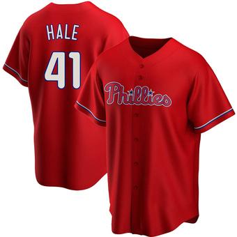 Youth David Hale Philadelphia Red Replica Alternate Baseball Jersey (Unsigned No Brands/Logos)