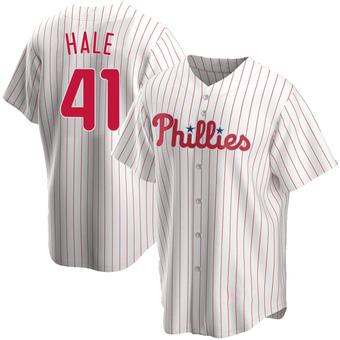 Youth David Hale Philadelphia White Replica Home Baseball Jersey (Unsigned No Brands/Logos)
