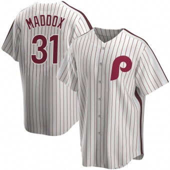 Youth Garry Maddox Philadelphia White Replica Home Cooperstown Collection Baseball Jersey (Unsigned No Brands/Logos)