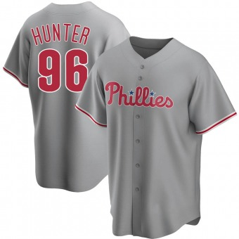 Youth Tommy Hunter Philadelphia Gray Replica Road Baseball Jersey (Unsigned No Brands/Logos)