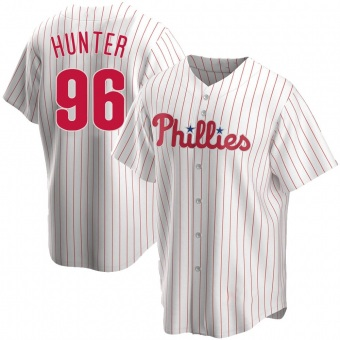Youth Tommy Hunter Philadelphia White Replica Home Baseball Jersey (Unsigned No Brands/Logos)