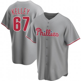 Youth Trevor Kelley Philadelphia Gray Replica Road Baseball Jersey (Unsigned No Brands/Logos)
