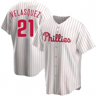 Youth Vince Velasquez Philadelphia White Replica Home Baseball Jersey (Unsigned No Brands/Logos)